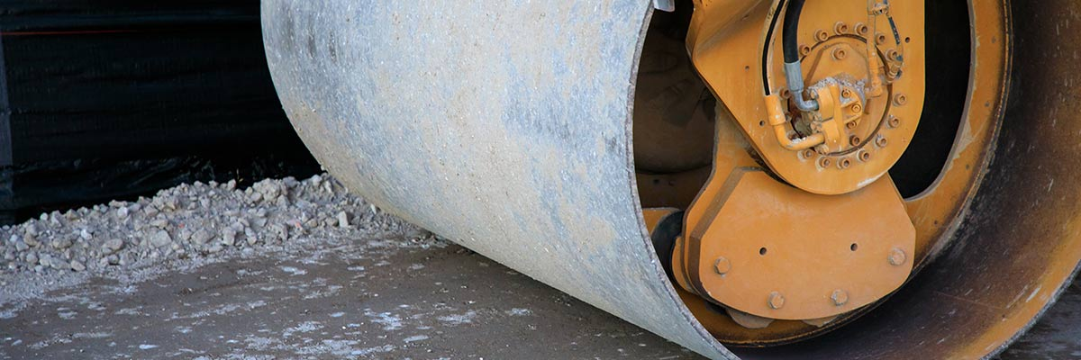 Roll-compacted concrete